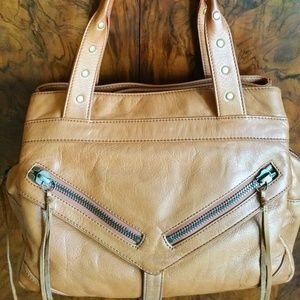 Botkier's iconic Trigger bag in caramel leather